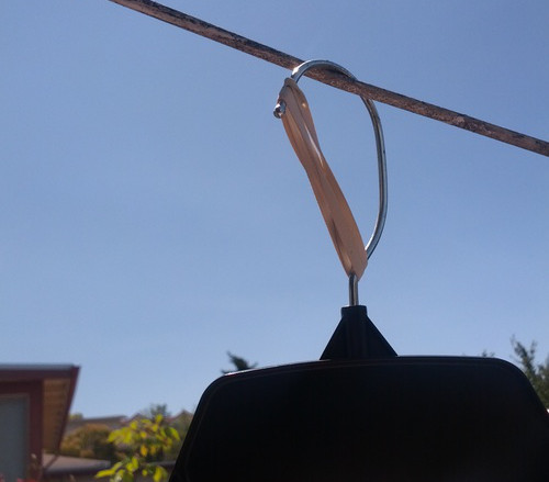 clothes hanger on the line